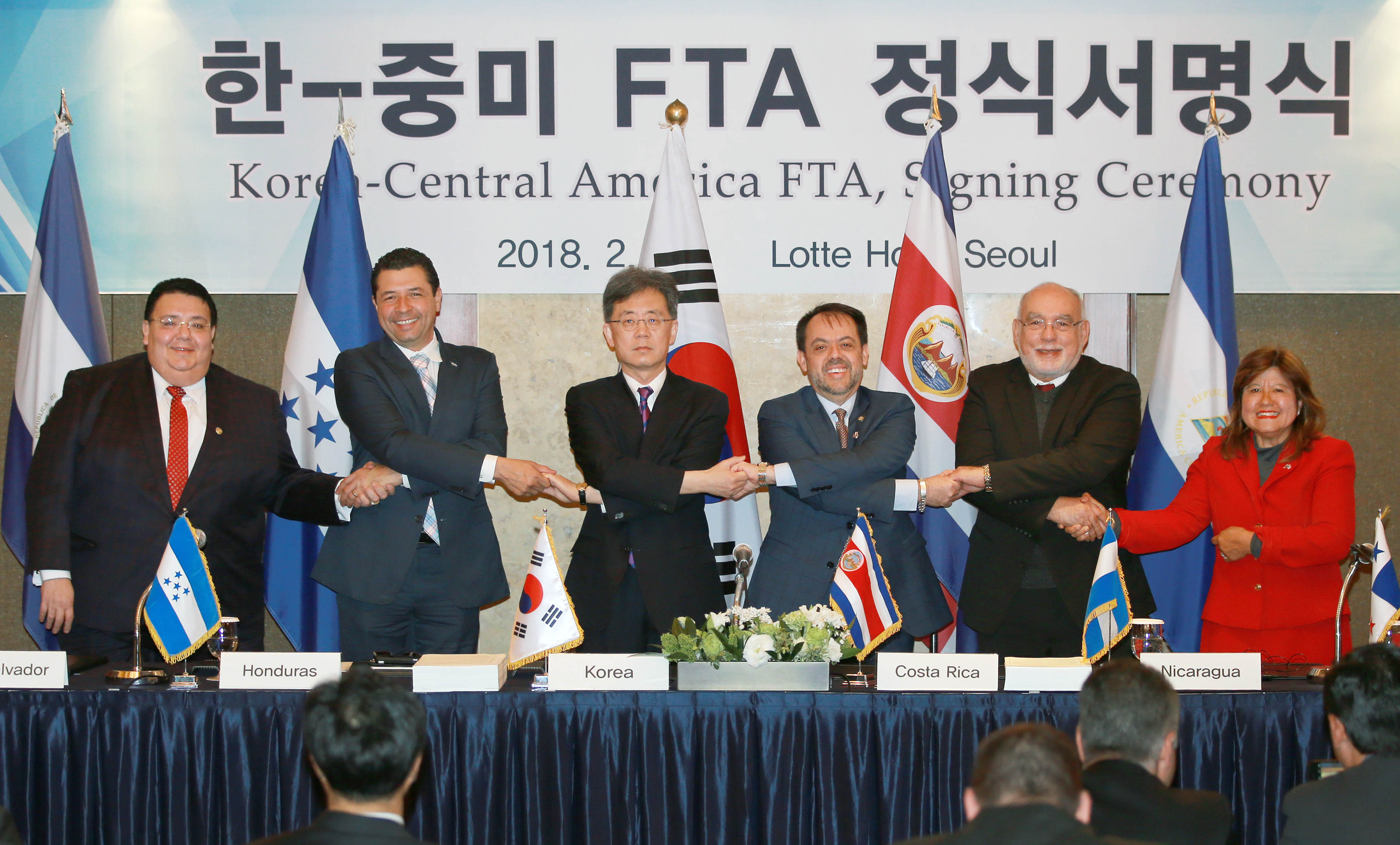 Trade Minister signs Korea-Central America FTA in Seoul