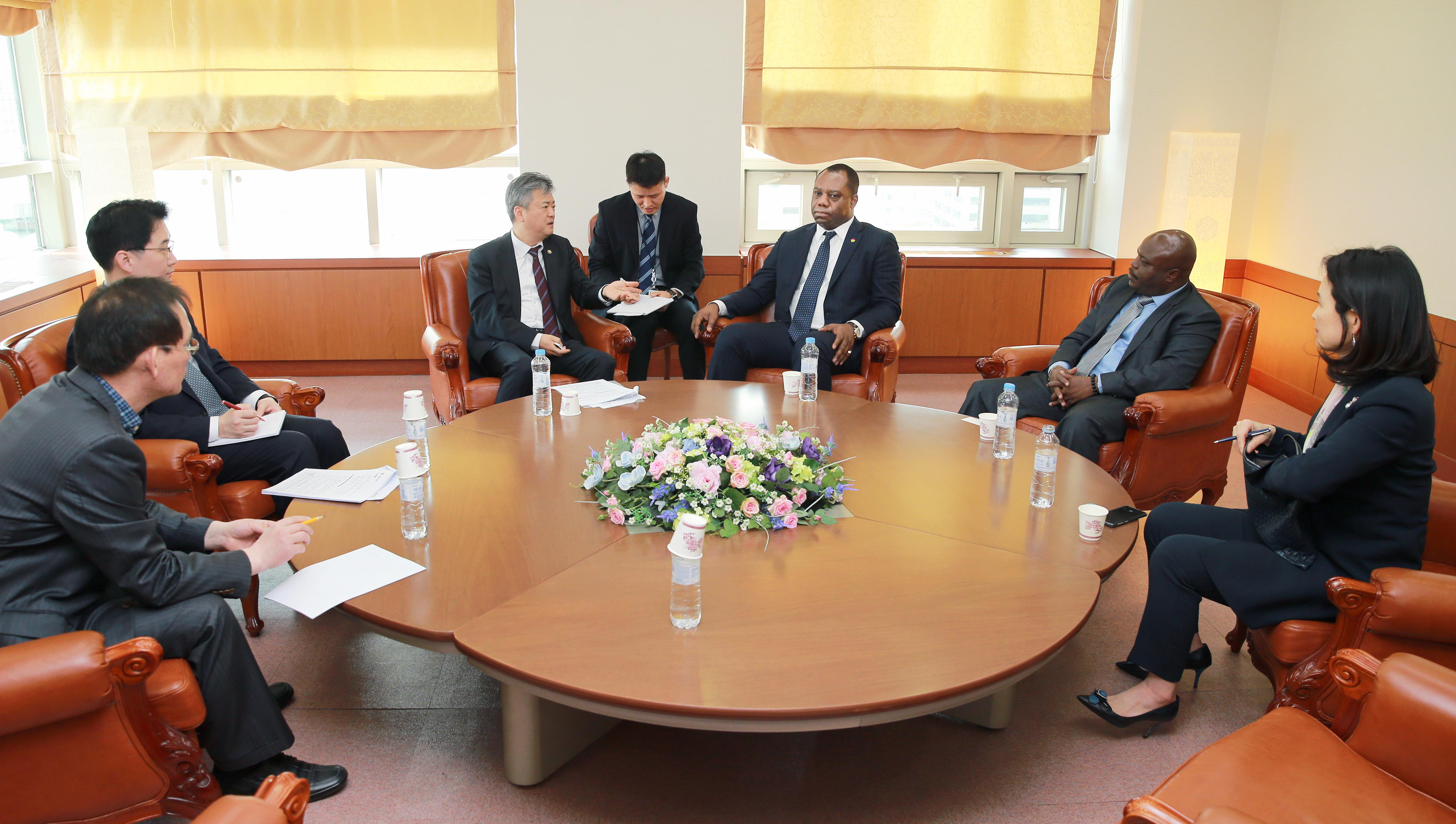 Vice Minister Lee discusses with Ghanaian ministers in Sejong