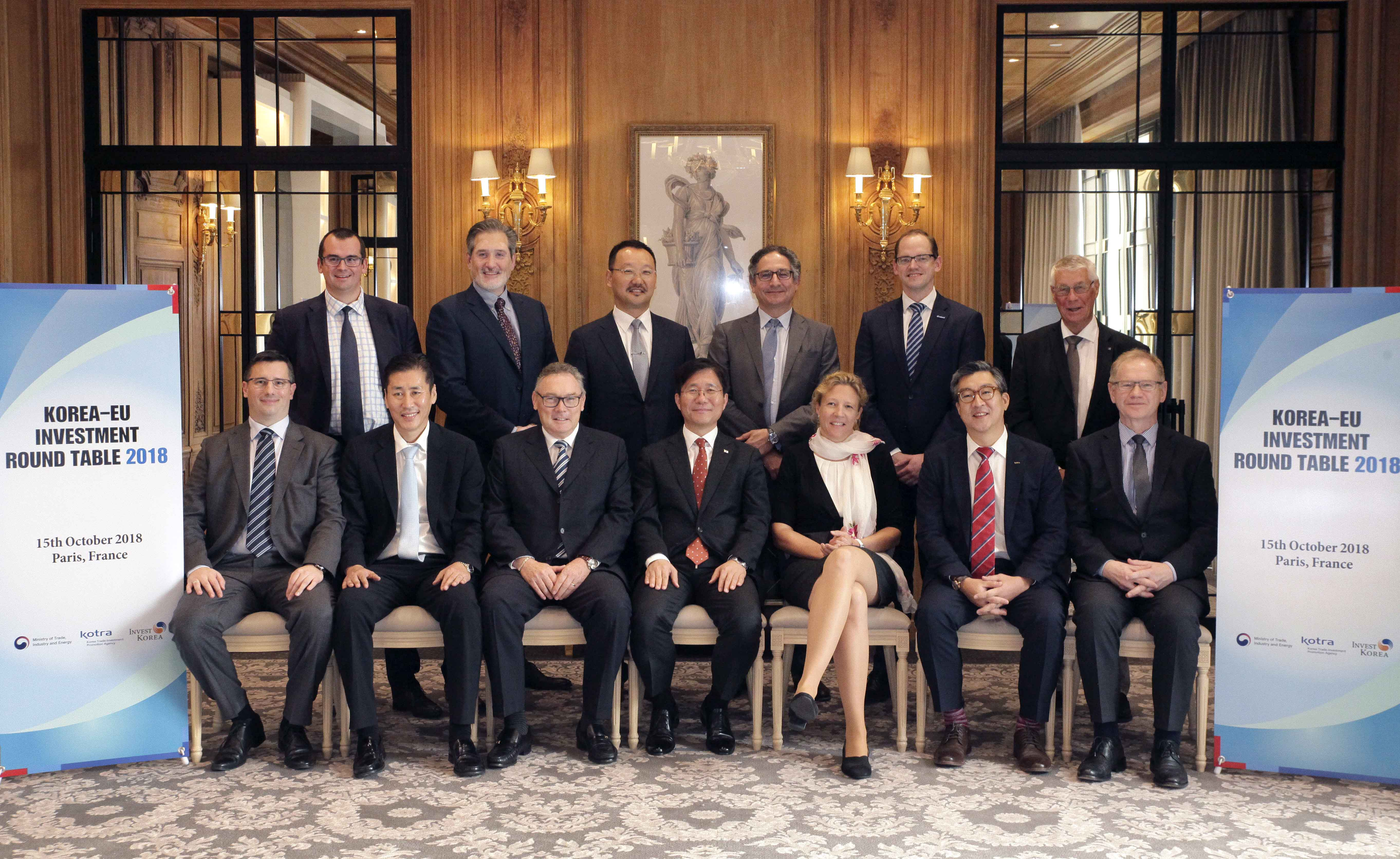 Minister Sung hosts Korea-EU Investment Roundtable 2018 in Paris