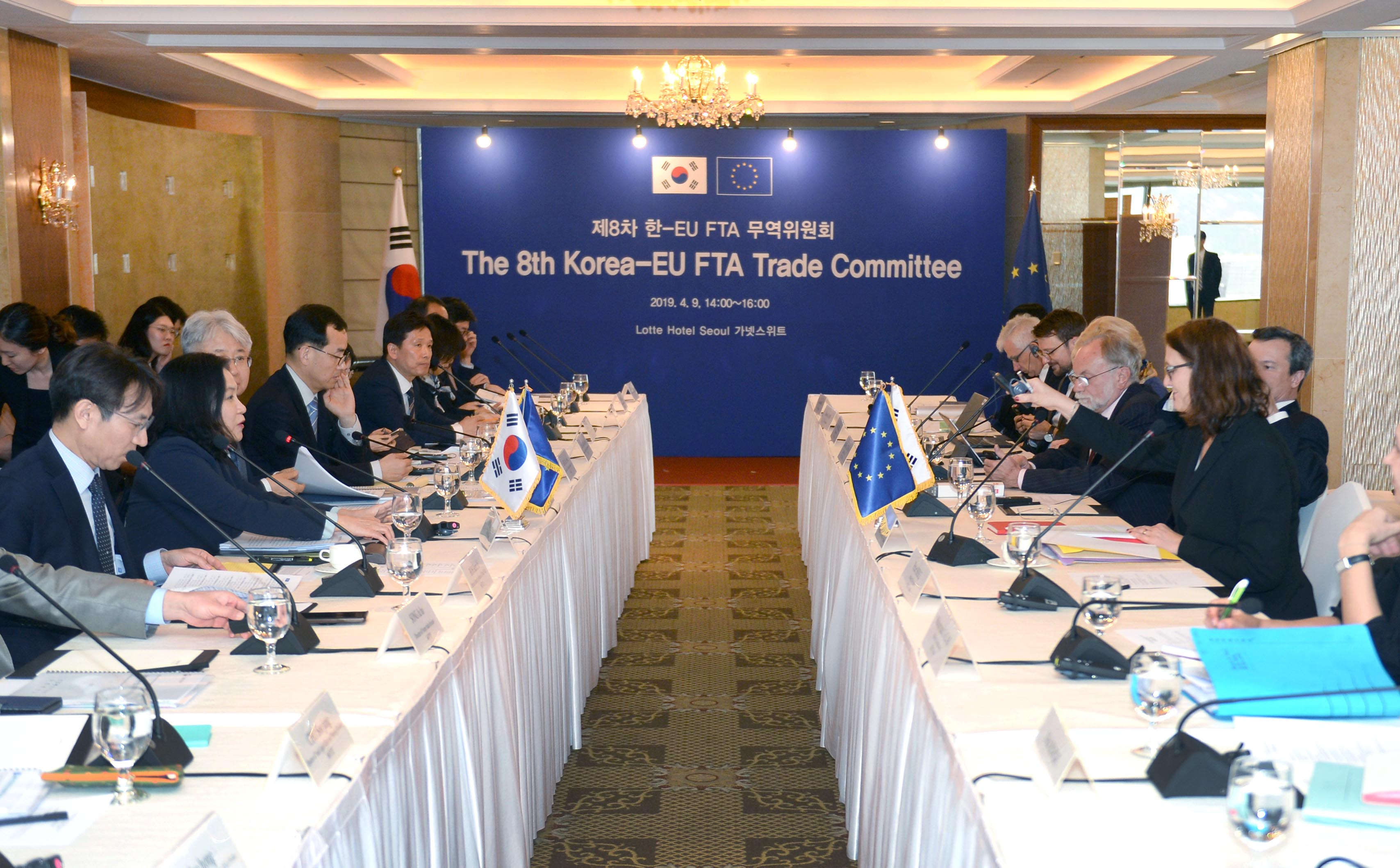 Korea, EU trade chiefs co-chair 8th FTA Trade Committee Meeting in Seoul Image 0