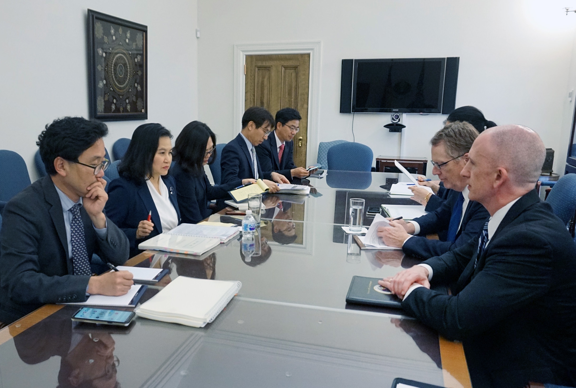 Trade Minister Yoo meets with USTR Lighthizer in Washington Image 0