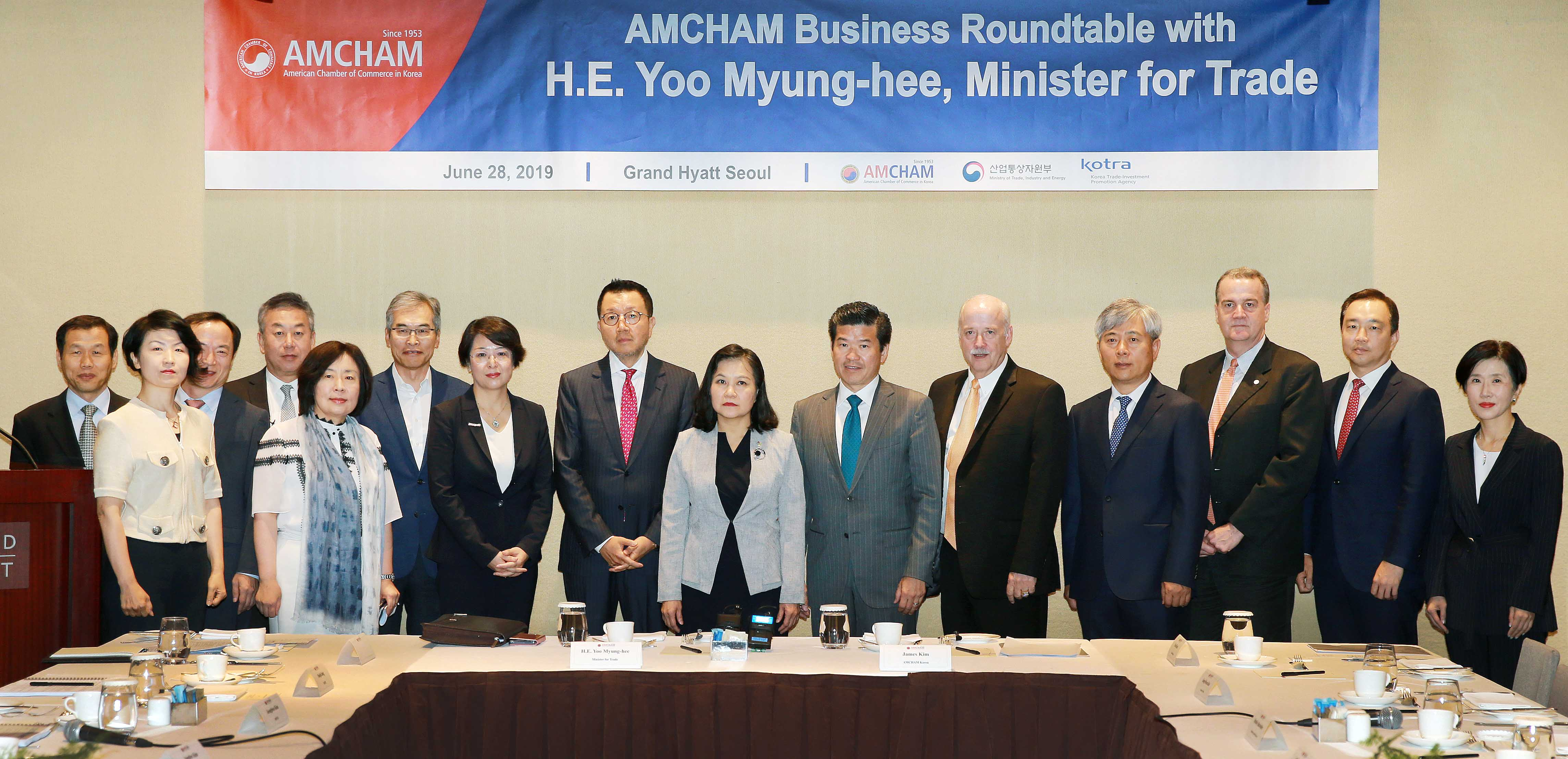 Trade Minister Yoo discusses with American businesses in Seoul Image 0