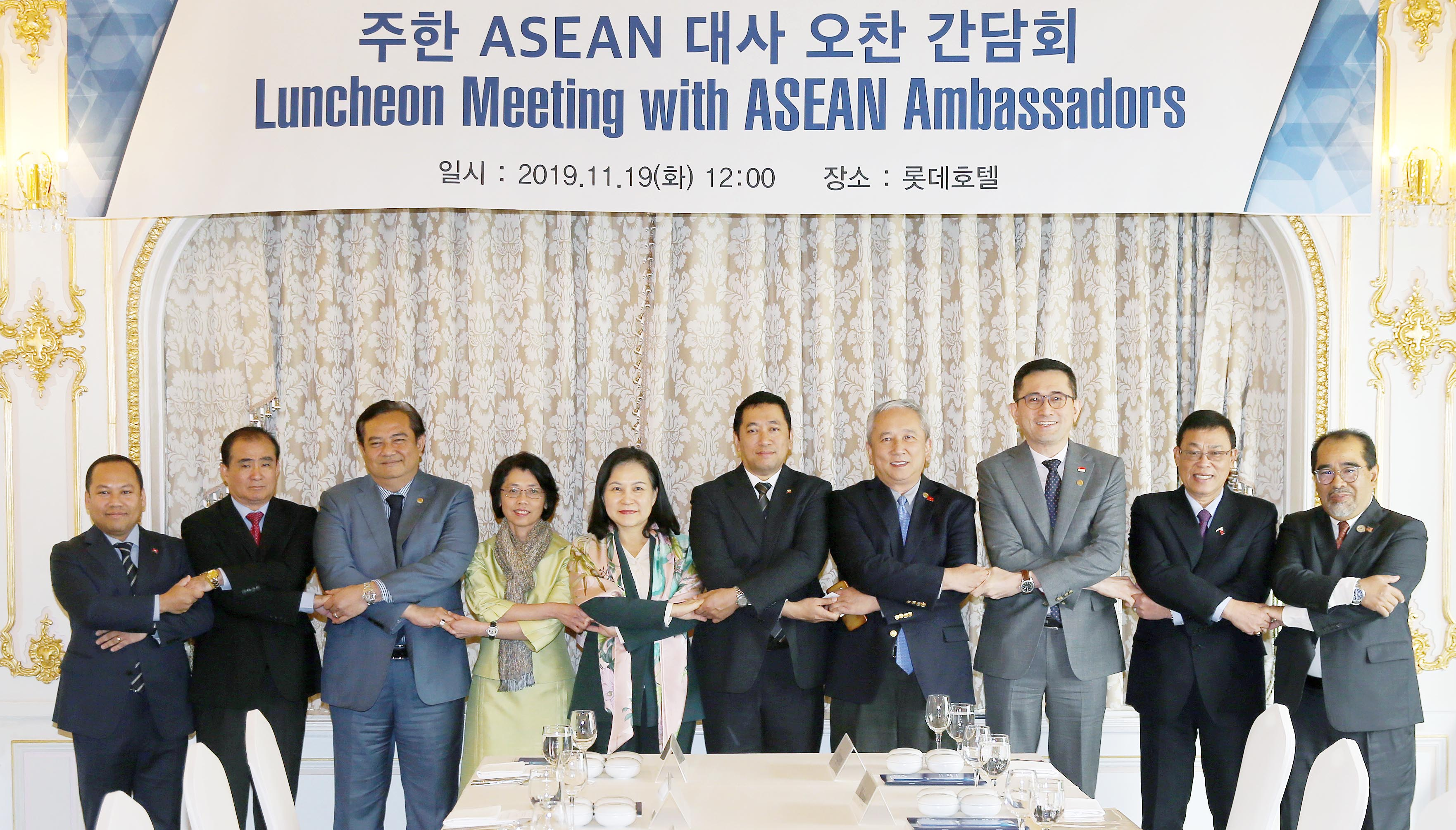 Trade Minister Yoo meets with ASEAN ambassadors