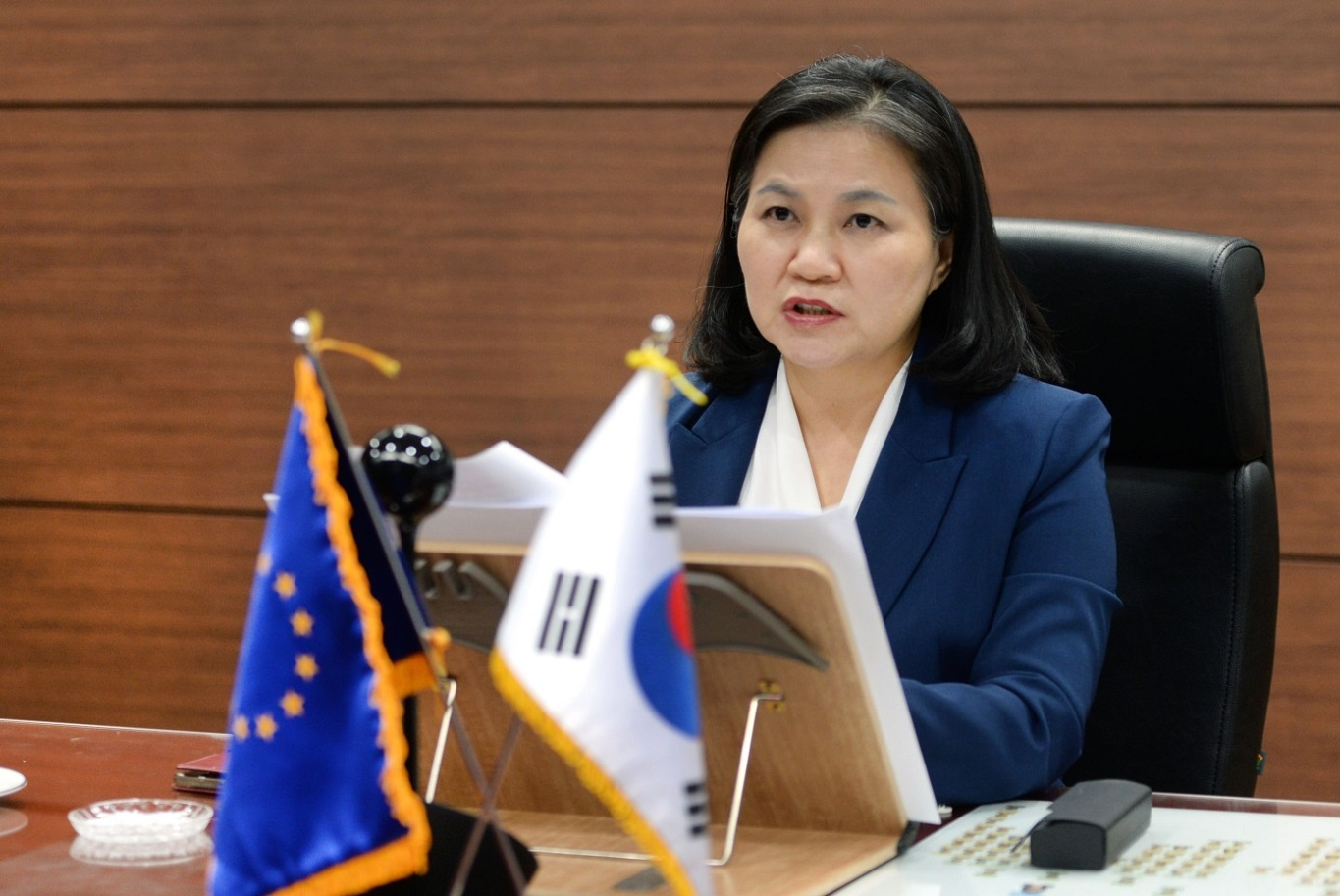 Korea, EU discuss global trade issues amid COVID19 pandemic Image 0